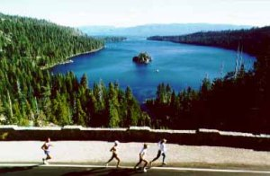 Lake Tahoe Marathon - View of Emerald Bay Photo Credit: www.laketahoemarathon.com/